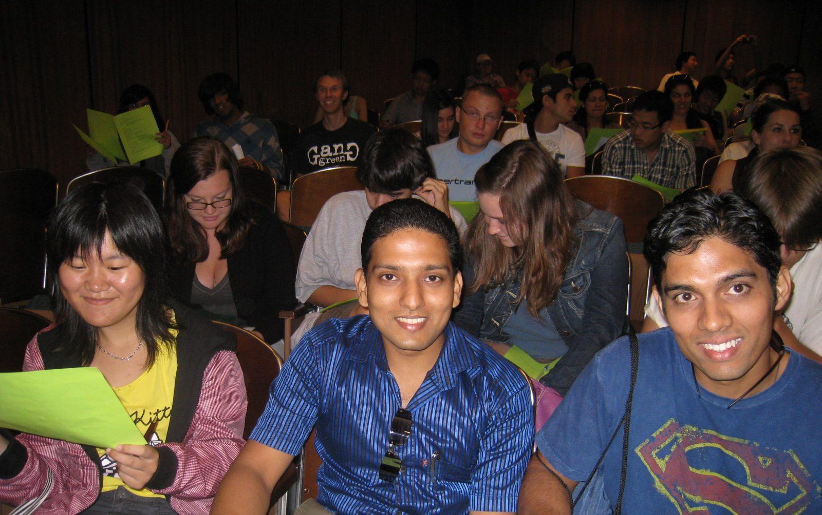 Students at international retreat