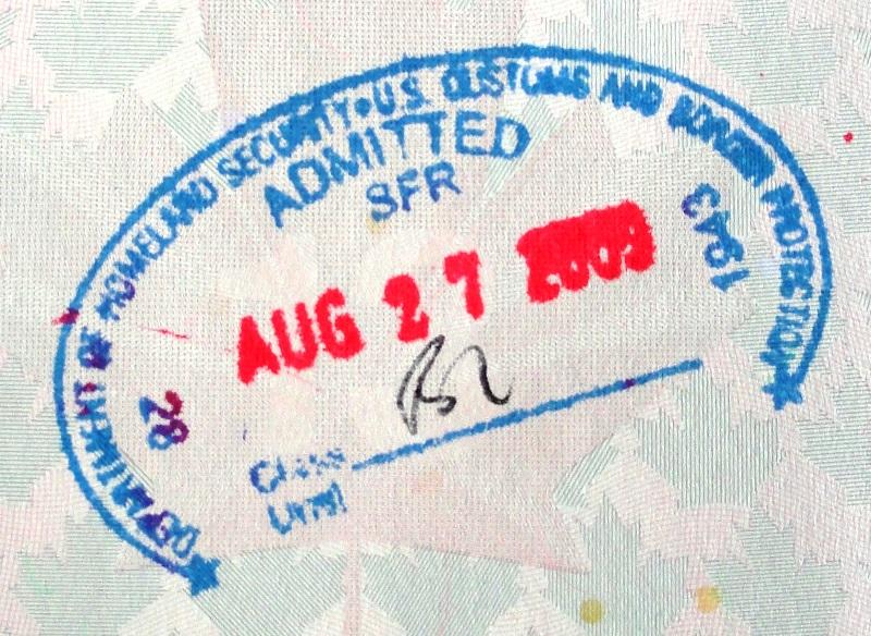 B1 POE Stamp