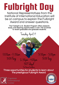 Fulbright Day Student Flyer