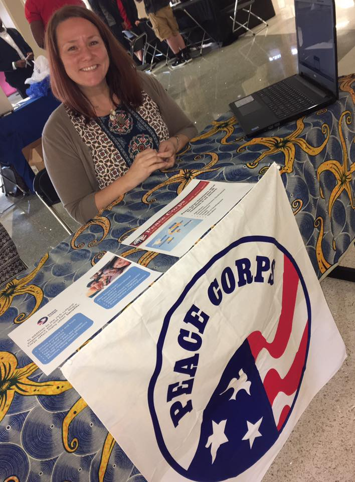 Jody at the Peace Corps Table