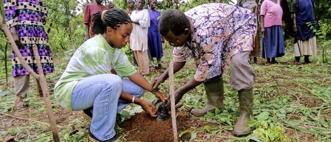 Peace Corps volunteer in Agriculture