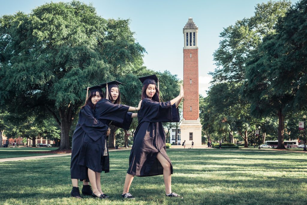 Yang, Jianlong-graduates on the quad