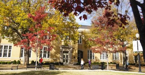B.B. Comer Hall in fall