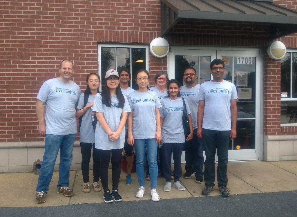 Capstone International volunteers