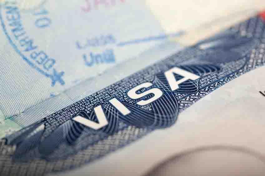 Visa Stamp - free rights use 1
