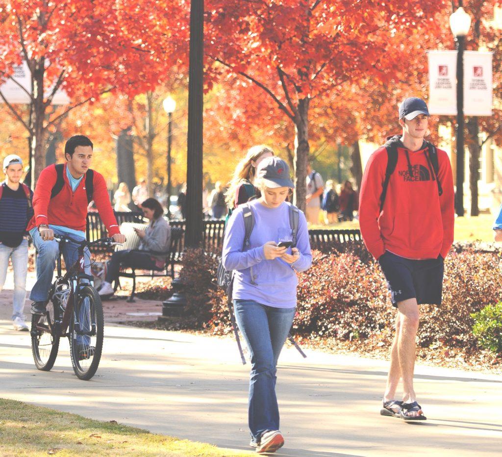 UA campus in the fall season