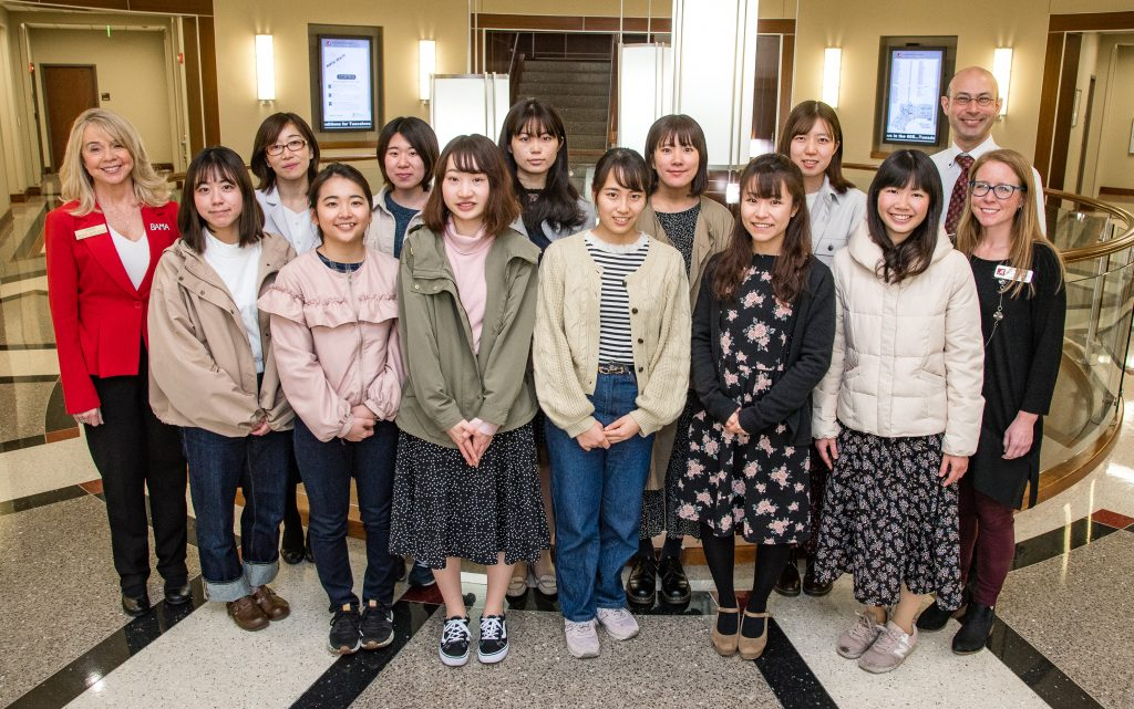 Chiba University Nursing Students at Capstone College of Nursing