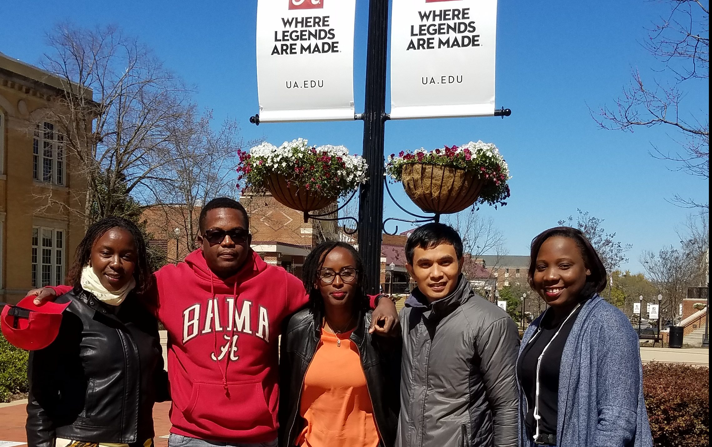 Fulbright ELI students outside of BB Comer